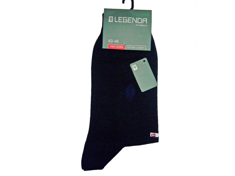 Носки мужские синие, хлопок/эластан, LEGENDA