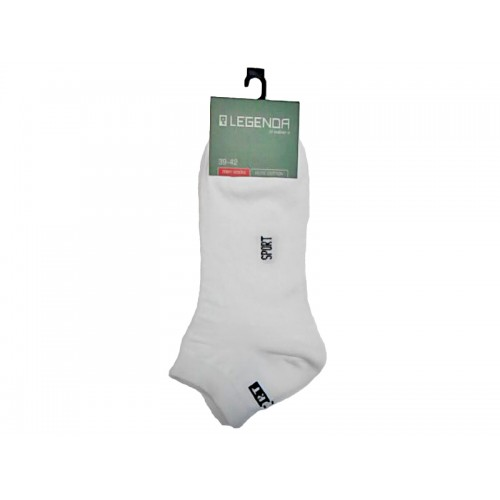 Купить Носки мужские короткие белые, хлопок/эластан, LEGENDA по цене от 101 Р. с доставкой