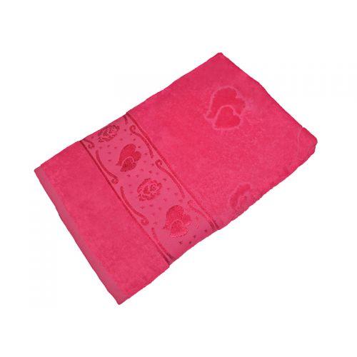Купить Полотенце фуксия махра/велюр 70х140 хлопок, AISHA по цене от 529 Р. с доставкой