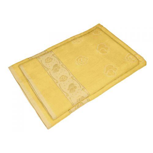 Купить Комплект из 2-х полотенец махра/велюр Желтый, AISHA по цене от 780 Р. с доставкой
