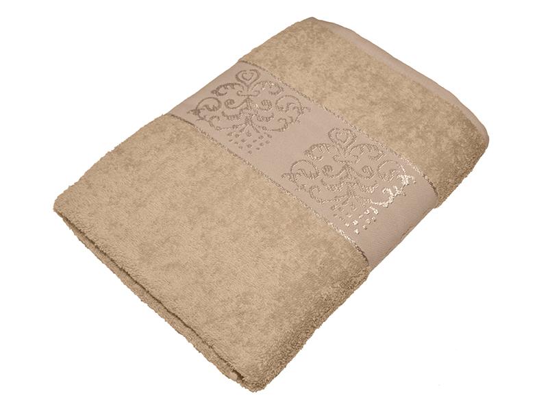 "Махровое полотенце ""Корона"" бежевое 50х85, AISHA"