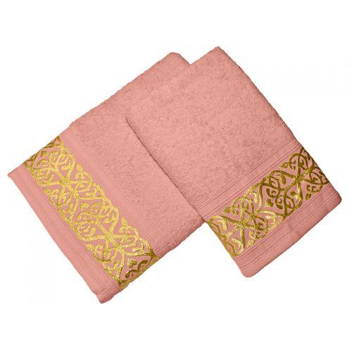 Купить Комплект из 2-х полотенец махровых Персик GOLD по цене от 1 008 Р. с доставкой