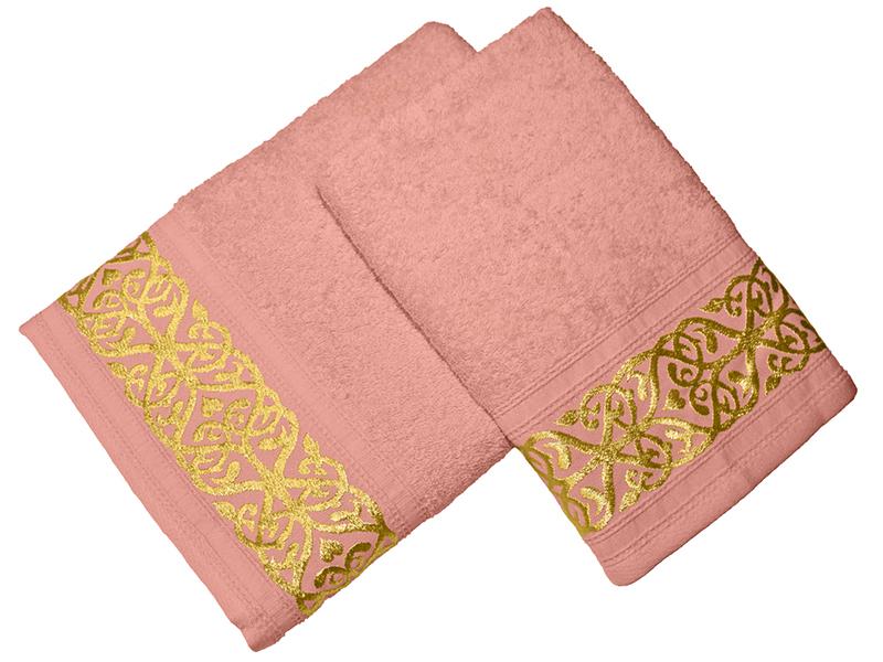 Комплект из 2-х полотенец махровых Персик GOLD