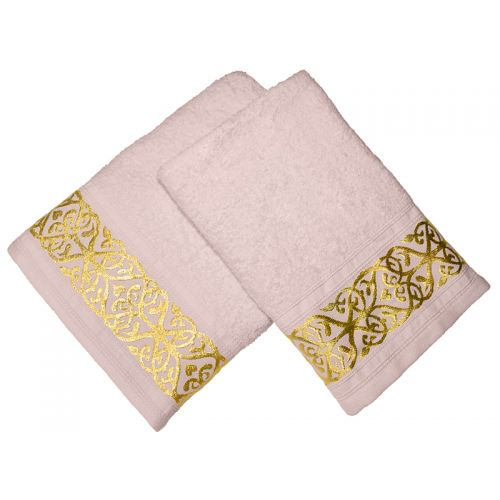 Купить Комплект из 2-х полотенец махровых Розовый жемчуг GOLD по цене от 1 008 Р. с доставкой