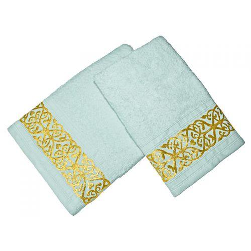 Купить Комплект из 2-х полотенец махровых Ментол GOLD по цене от 1 008 Р. с доставкой