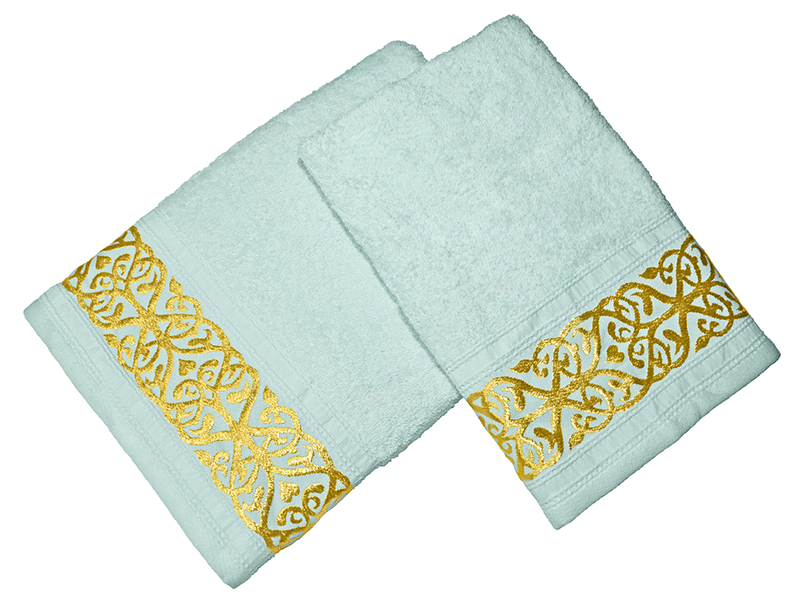 Комплект из 2-х полотенец махровых Ментол GOLD