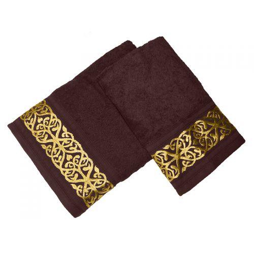Купить Комплект из 2-х полотенец махровых Кофе GOLD по цене от 1 008 Р. с доставкой