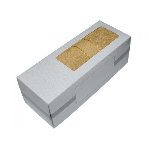 Купить Махровое полотенце кофе с молоком 50х90 хлопок, в коробке, AISHA по цене от 326 Р. с доставкой