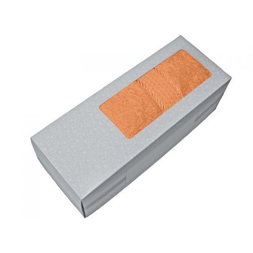 Купить Махровое полотенце персиковое 50х90 хлопок, в коробке, AISHA по цене от 326 Р. с доставкой