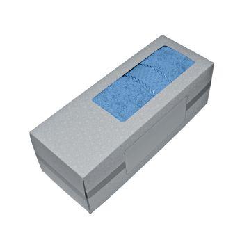 Махровое полотенце голубое 50х90 хлопок, в коробке, AISHA