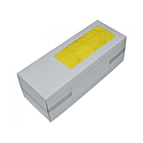 Купить Махровое полотенце желтое 50х90 хлопок, в коробке, AISHA по цене от 326 Р. с доставкой
