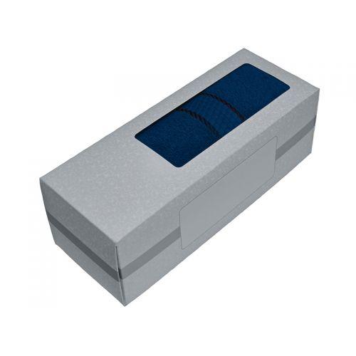 Купить Махровое полотенце синее 50х90 хлопок, в коробке, AISHA по цене от 326 Р. с доставкой