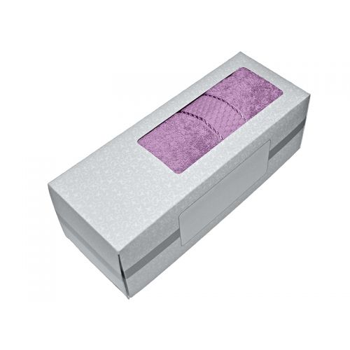 Купить Махровое полотенце сиреневое 50х90 хлопок, в коробке, AISHA по цене от 326 Р. с доставкой
