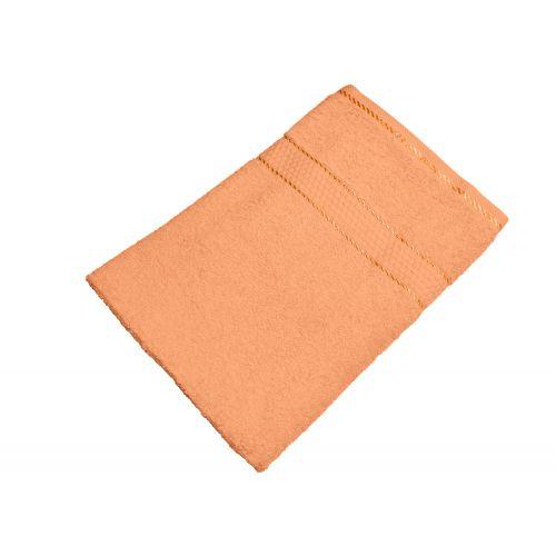 Купить Махровое полотенце персиковое 50х90 хлопок, AISHA по цене от 222 Р. с доставкой