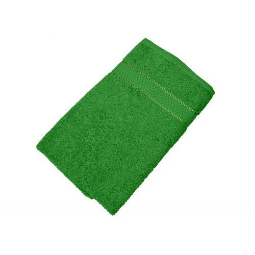 Купить Махровое полотенце зеленое 50x90 хлопок, AISHA по цене от 222 Р. с доставкой