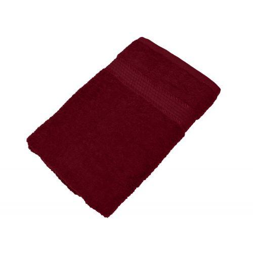 Купить Махровое полотенце бордовое 50х90 хлопок, AISHA по цене от 222 Р. с доставкой