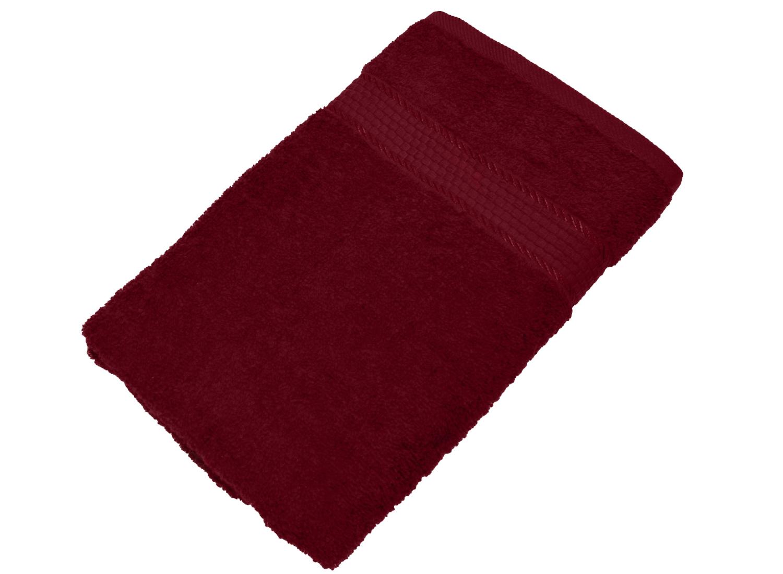 Махровое полотенце бордовое 50х90 хлопок, AISHA