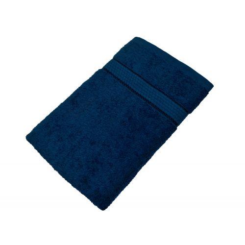 Купить Махровое полотенце синее 50х90 хлопок, AISHA по цене от 222 Р. с доставкой