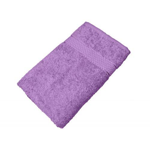 Купить Махровое полотенце сиреневое 50х90 хлопок, AISHA по цене от 222 Р. с доставкой