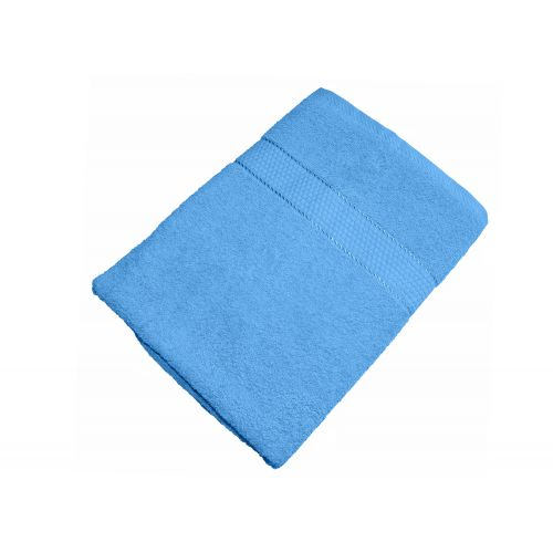 Купить Махровое полотенце голубое 50х90 хлопок, AISHA по цене от 222 Р. с доставкой