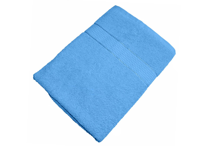 Махровое полотенце голубое 50х90 хлопок, AISHA