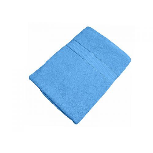 Купить Махровое полотенце голубое 70x140 хлопок, AISHA по цене от 590 Р. с доставкой