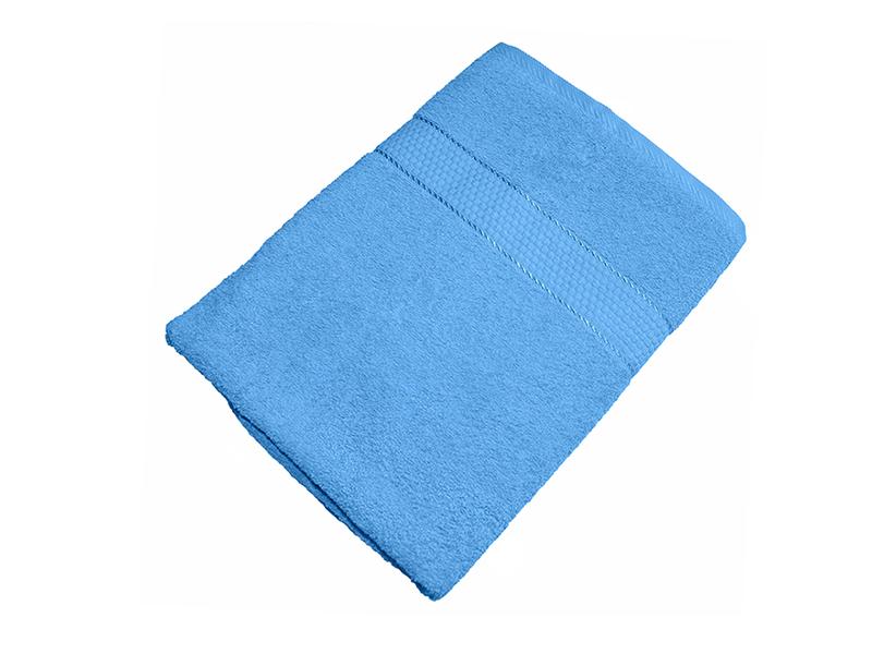 Махровое полотенце голубое 70x140 хлопок, AISHA