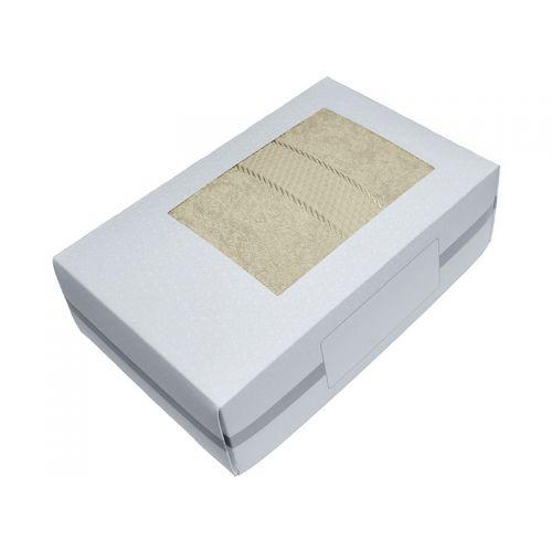 Купить Махровое полотенце бежевое 70х140 хлопок, в коробке, AISHA по цене от 580 Р. с доставкой