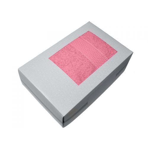 Купить Махровое полотенце розовый 70х140 хлопок, в коробке, AISHA по цене от 580 Р. с доставкой