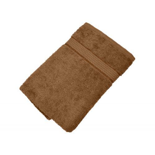 Купить Махровое полотенце коричневый 50х90 хлопок, AISHA по цене от 222 Р. с доставкой