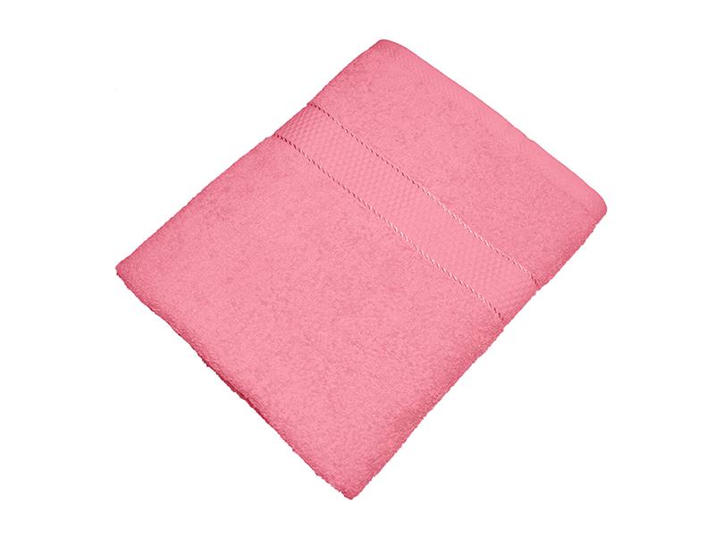 Махровое полотенце розовое 70х140 хлопок, AISHA