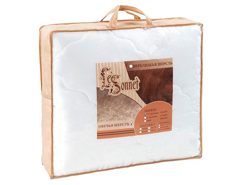 """Одеяло белое, овечья шерсть 250 г, в сумке,""""ЭГО"""""""