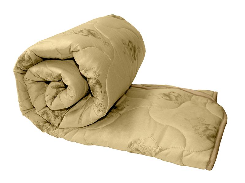 """Одеяло бежевое, верблюжья шерсть 250 г, в сумке, """"ЭГО"""""""