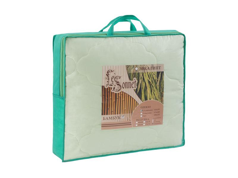 """Одеяло белое, бамбук 300 г, в сумке, """"ЭГО"""""""