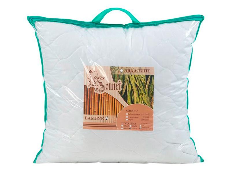 """Подушка бамбук, микрофибра, в сумке """"ЭГО"""""""