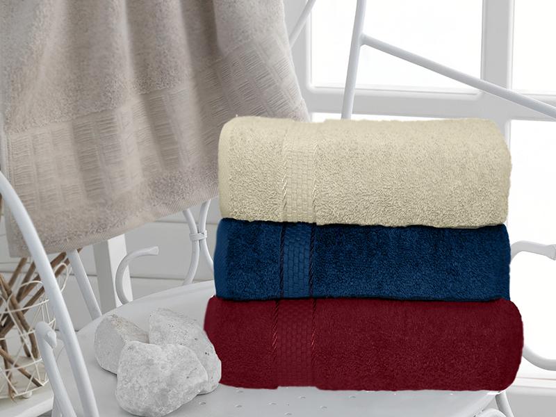 Махровое полотенце синее 50х90 хлопок, AISHA