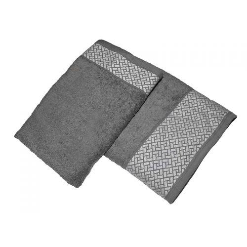 """Купить Комплект из 2-х махровых полотенец """"Лабиринт серый"""", AISHA по цене от 840 Р. с доставкой"""