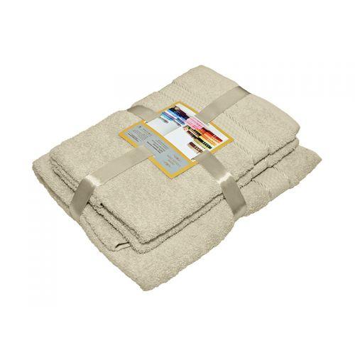 Купить Комплект из 3-х махровых полотенец Бежевый, AISHA по цене от 1 060 Р. с доставкой