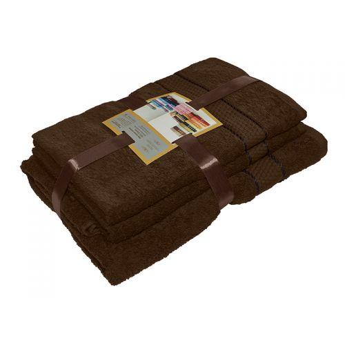 Купить Комплект из 3-х махровых полотенец Шоколад, AISHA по цене от 1 060 Р. с доставкой