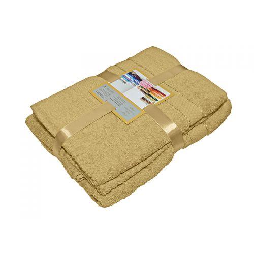 Купить Комплект из 3-х махровых полотенец Кофе с молоком, AISHA по цене от 1 060 Р. с доставкой