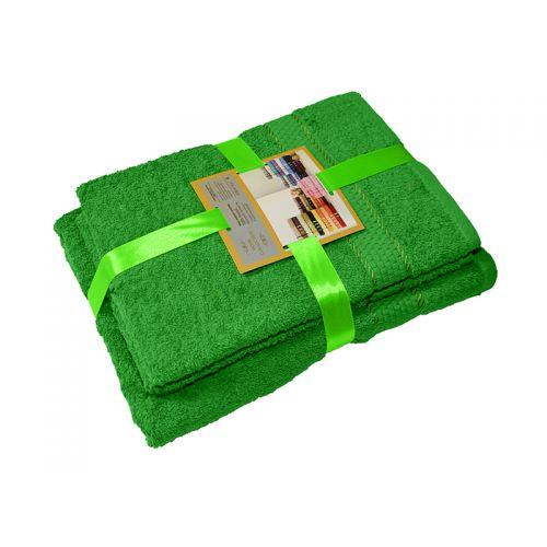 Купить Комплект из 3-х махровых полотенец Зеленый, AISHA по цене от 1 060 Р. с доставкой
