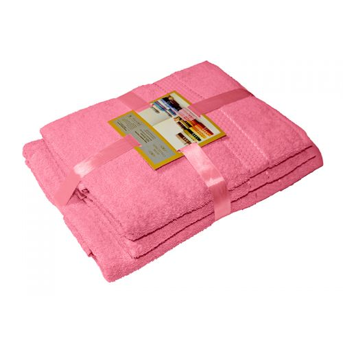 Купить Комплект из 3-х махровых полотенец Розовый, AISHA по цене от 1 060 Р. с доставкой
