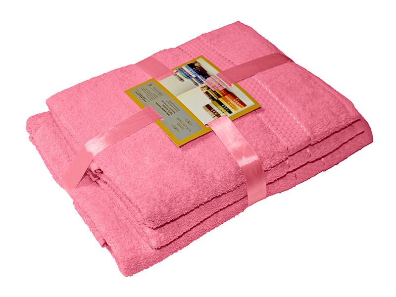Комплект из 3-х махровых полотенец Розовый, AISHA