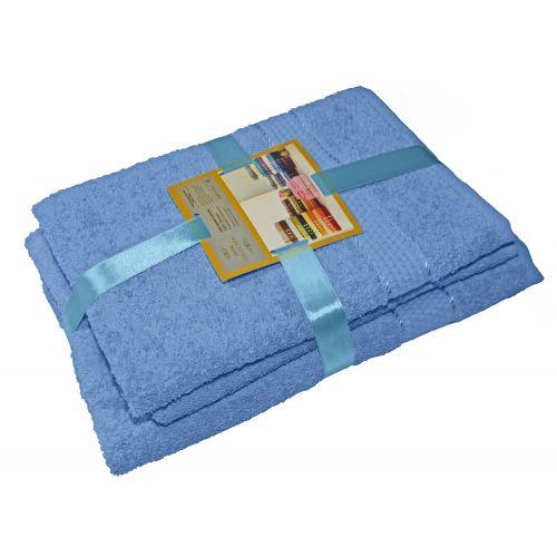Купить Комплект из 3-х махровых полотенец Голубой, AISHA по цене от 771 Р. с доставкой