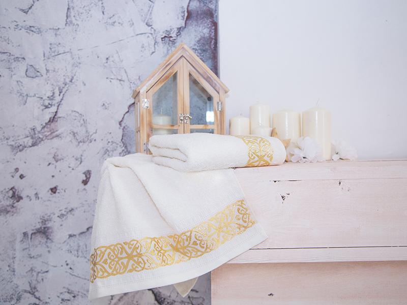 Комплект из 2-х полотенец махровых Белый GOLD