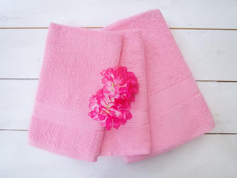 Махровое полотенце розовое 50x90 хлопок, AISHA
