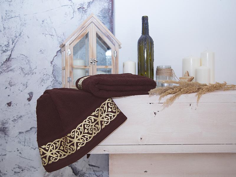 Комплект из 2-х полотенец махровых Кофе GOLD
