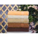Купить Махровое полотенце бежевое 50x90 хлопок, AISHA по цене от 280 Р. с доставкой