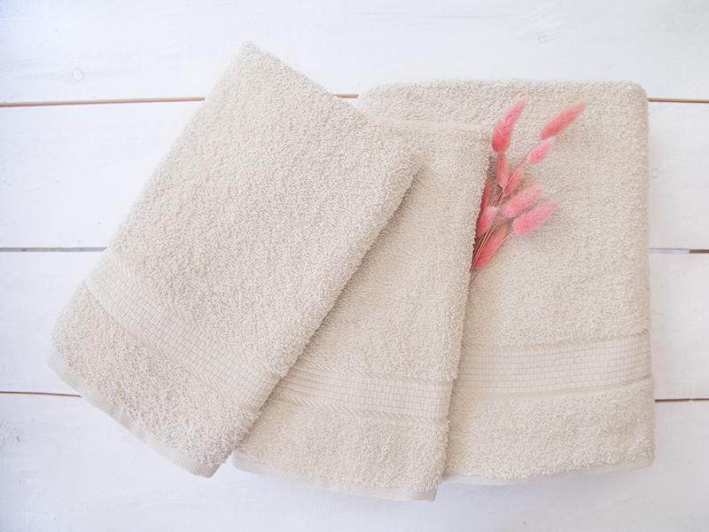 Комплект из 3-х махровых полотенец Бежевый, AISHA