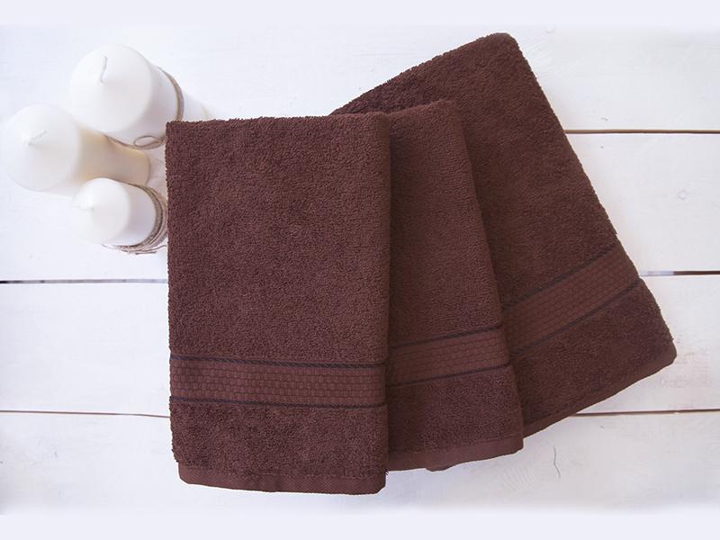 Комплект из 3-х махровых полотенец Шоколад, AISHA